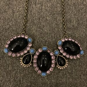 J. Crew Black Eyelet Necklace - NWT